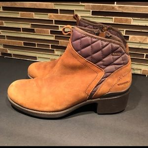 Merrell Chateau Leather Oak Boots Size 9.5